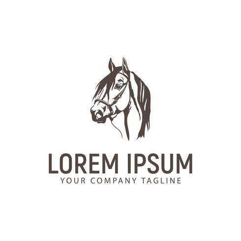 logotipo do cavalo de cabeça. modelo de conceito de design vintage