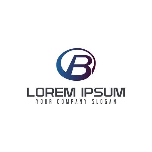 Modèle de concept de design lettre B cercle logo