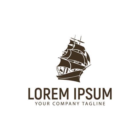 plantilla de concepto de diseño de logotipo de la nave