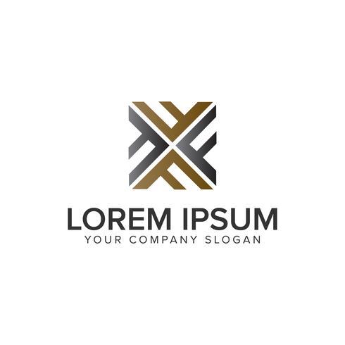 Letra F plantilla de concepto de diseño de logotipo de decoración cuadrado. totalmente e