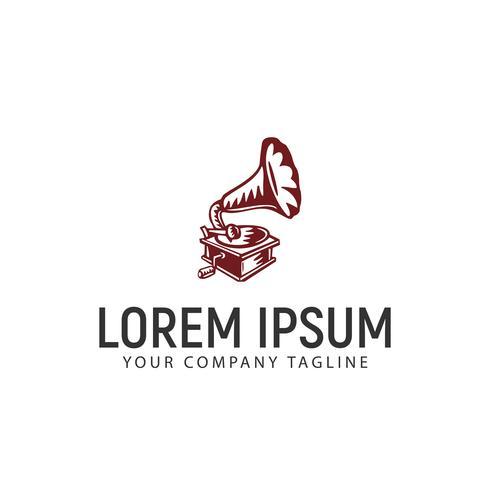 Modelo de conceito de design de logotipo de gramofone