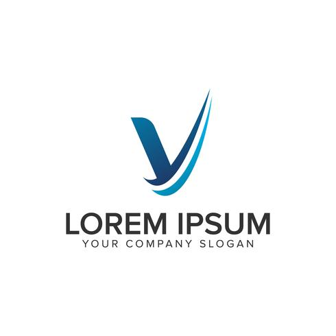 Cative Modern letter V Logo design concept template . fully edit