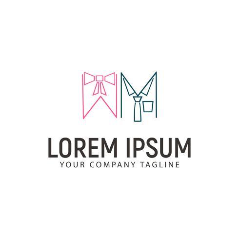 Plantilla de concepto de diseño de logotipo de ropa de mujer y hombre vector