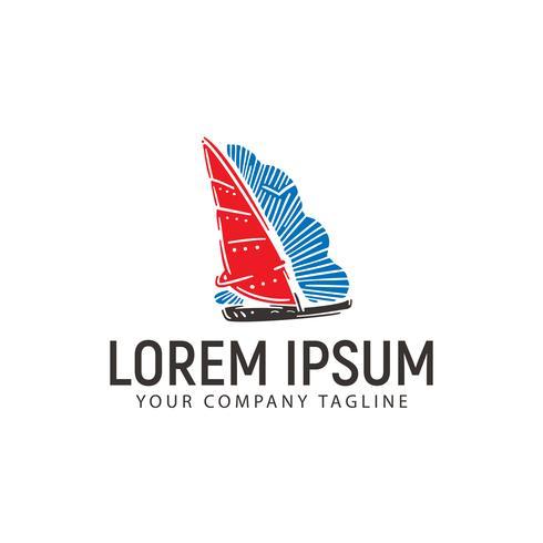 Boot Logo Design-Konzept-Vorlage