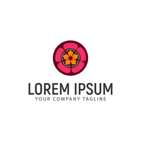 Plantilla de concepto de diseño de logotipo de decoración de flor