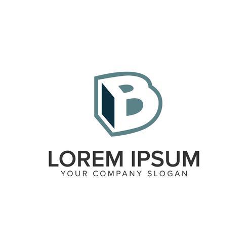 Plantilla de concepto de diseño de logotipo letra B caja. vector completamente editable