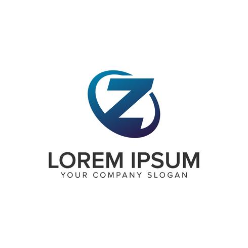 Modelo de conceito de design de logotipo moderno criativo letra Z. totalmente ed