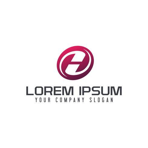 Modelo de conceito do letra H emblema logo logotipo design
