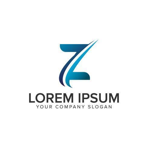 Cative moderner Buchstabe Z Logo-Design-Konzept-Vorlage. vollständig bearbeiten vektor