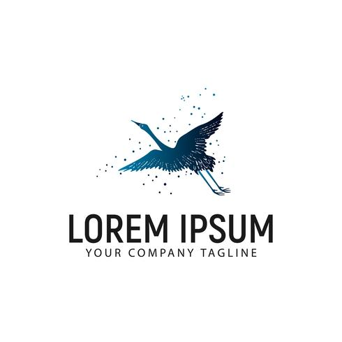 Plantilla de concepto de diseño de logotipo de Fly Swan