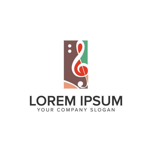 modelo de conceito de design de logotipo de música de animação. totalmente editável