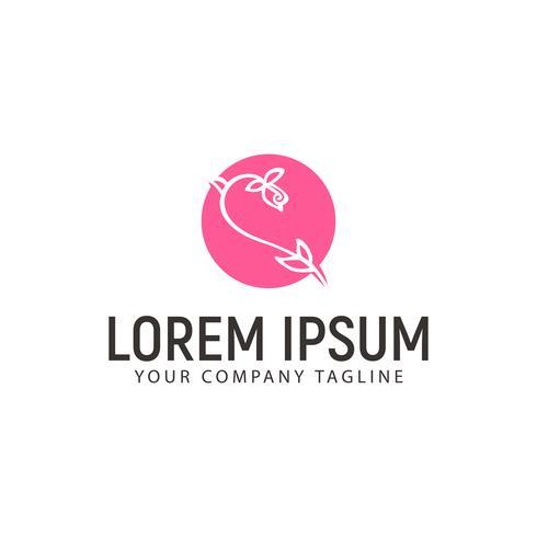 fleur logo dessinés à la main style style design concept template design conc
