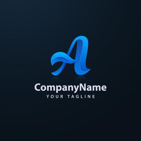 Vector corporativo del diseño del logotipo de la letra A del negocio. Plantilla colorida del vector del logotipo de la letra A.