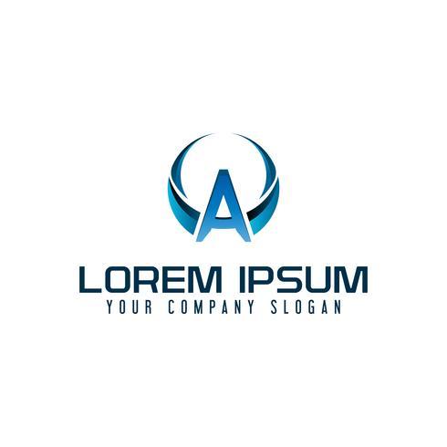 Logotipo de la letra A. plantilla de concepto de diseño de tecnología de negocios vector