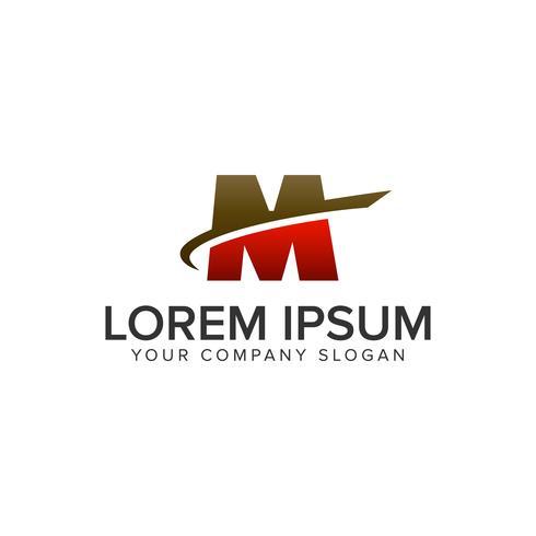 Plantilla de concepto de diseño de logotipo letra M movimiento. vec totalmente editable