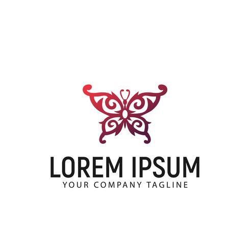 Plantilla de concepto de diseño de logotipo de decoración de mariposa vector