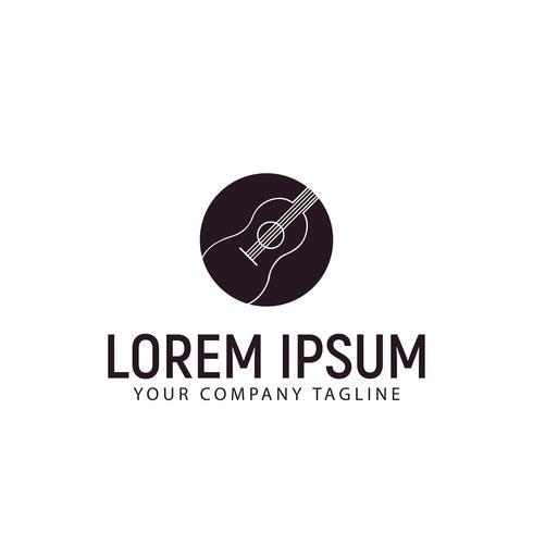 plantilla de concepto de diseño de logotipo de guitarra