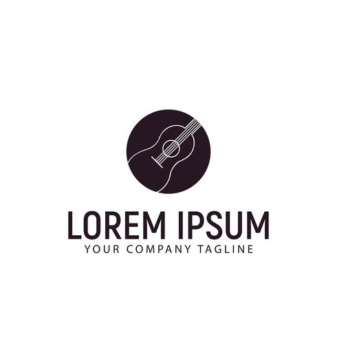 Gitarren-Logo-Design-Konzept-Vorlage