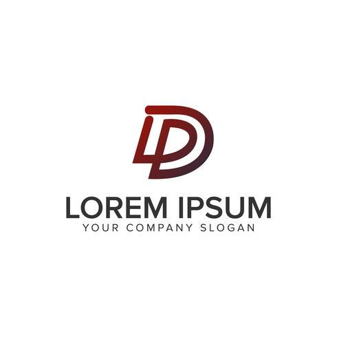 Letter D line logo design concept template. fully editable vecto
