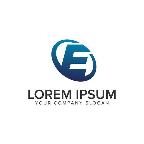 Kreativt modernt brev E Logo design koncept mall. fullständigt redigerad