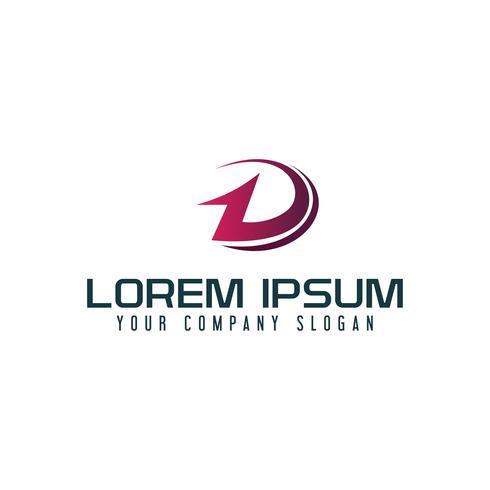Letter D logo design concept template