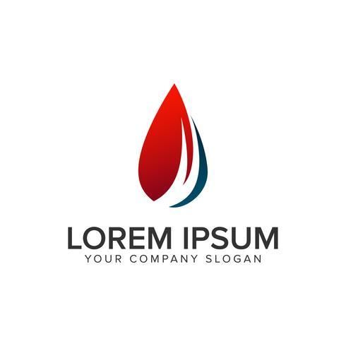 modelo de conceito de design de logotipo de recursos naturais de gota.