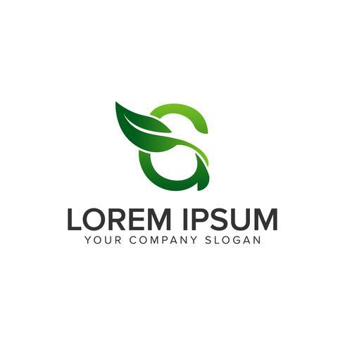 letter G leaf logo design concept template. fully editable vecto