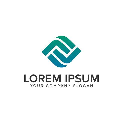 Modelo de conceito de design de logotipo moderno letra F