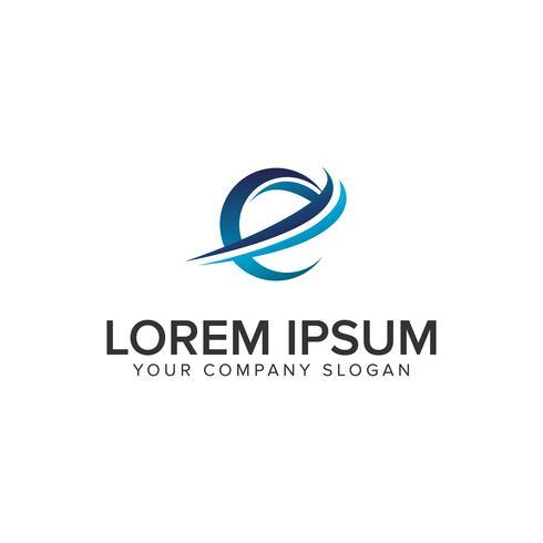 Cative Modern lettre E modèle de concept de design Logo. éditer complètement