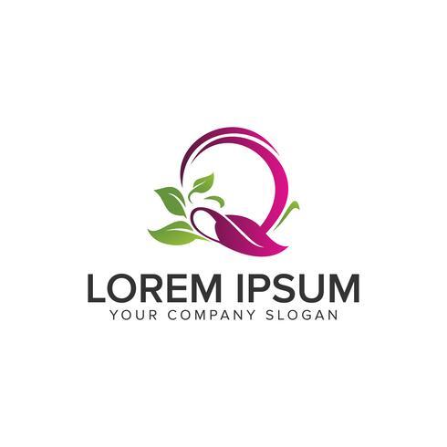 Modello di concetto di Spa verde natura logo design.