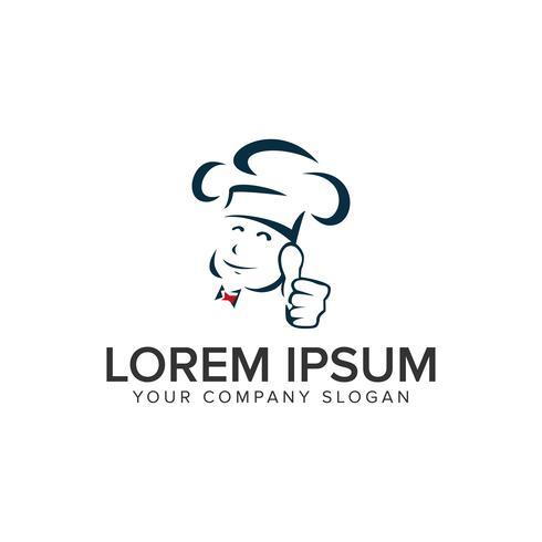 modelo de conceito de design de logotipo de chef de topo. vetor totalmente editável