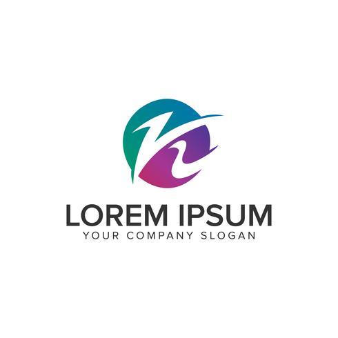 Modèle de concept de conception lettre K moderne Logo. vec entièrement éditable
