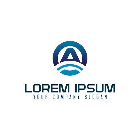Plantilla de concepto de diseño de logotipo de tecnología de letra A moderna