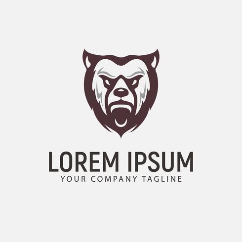 Bär Tier Logo-Design-Konzept-Vorlage