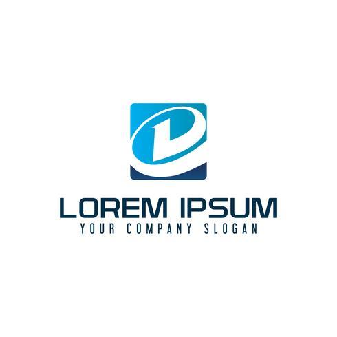 lettre moderne d logo. modèle de concept de design tech
