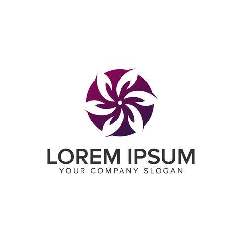 Plantilla de concepto de diseño de logotipo minimalista flor. completamente editable v