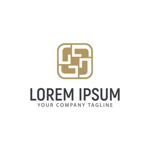 Modèle de concept design luxe lettre G intérieur logo