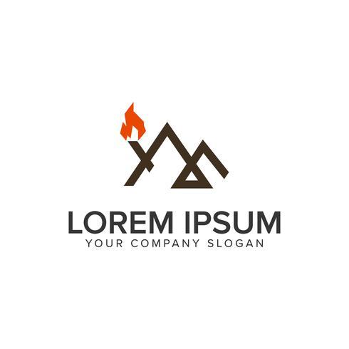 modello di concetto di design di montagna minima linea avventura logo.