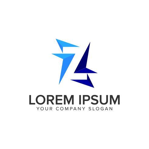 Modèle de concept de conception lettre Z logo moderne.