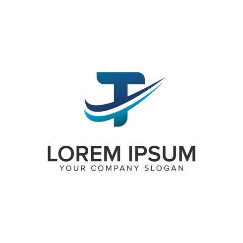 Cative moderne letter T Logo ontwerpsjabloon concept. volledig bewerken