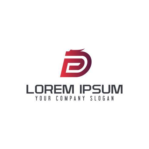 Modèle de concept de design lettre D dragon logo