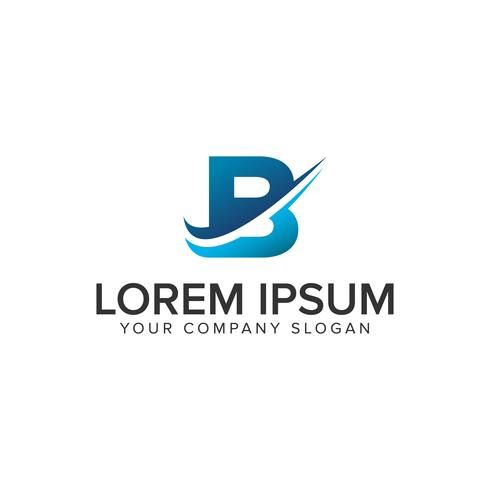Modelo de conceito de design de logotipo Cative moderno letra B. editar completamente