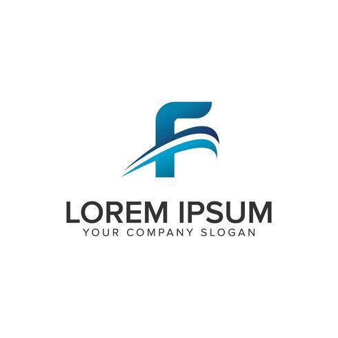 Cative moderne lettre F modèle de concept de design de logo. éditer complètement
