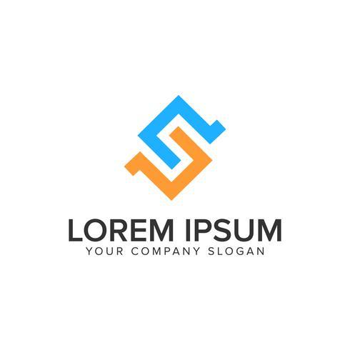 Plantilla de concepto de diseño de logotipo letra S.