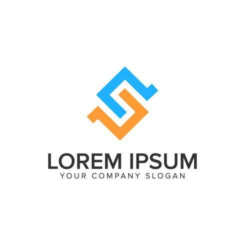 letter S logo design concept template. vector