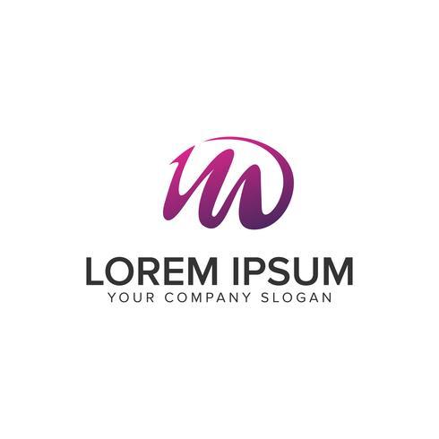 Letter M paars creatief logo ontwerpsjabloon concept