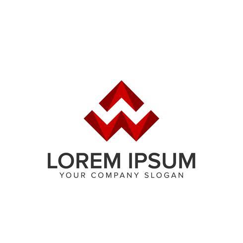 logotipo da letra W 3D