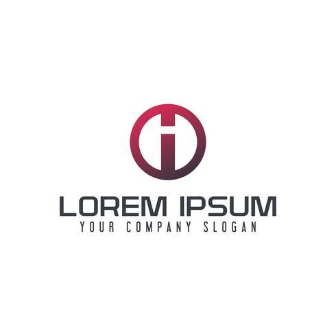 Carta eu modelo de conceito de design de logotipo