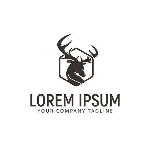 luxe herten logo ontwerpsjabloon concept