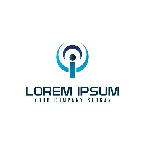 letra i tecnologia comunicações logotipo design conceito modelo